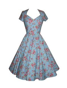 Full circle 'Daisy' in Garden Party Blue http://www.polkadotpolly.co.uk