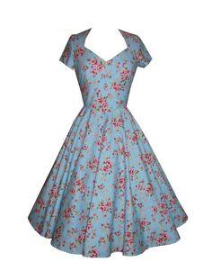 Full circle 'Daisy' in Garden Party Blue http://www.polkadotpolly.co.uk