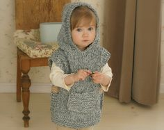 CROCHET PATTERN fox wolf hooded chunky poncho Max by MukiCrafts