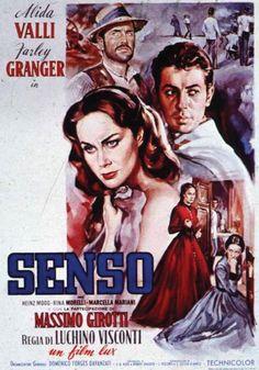 Senso - Italy 1954, an adaptation of Camillo Boito's Italian novella.  Directed by Luchino Visconti, cast: with Valli,  Farley Granger