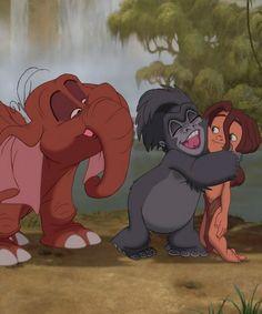 Kerchak: You came back. Tarzan: I came home...i love this movie :')