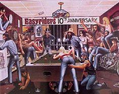 Harley Davidson Easyriders 10th Anniversary By David Mann Poster Print