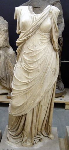 Marble statue of a draped woman, Ancient Turkey, 2nd c BCE The British Museum