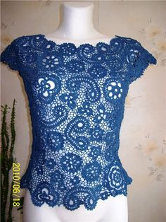 Irish crochet top