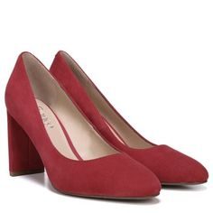 acf81569e3d Elevate your style with a simple and elegant block heel. Red Shoes