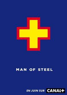 """""""Man Of Steel"""" de Zack Snyder - Cannes 2014 : des affiches de films décalées made in Canal + - Diaporama - AlloCiné"""