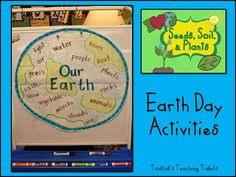 Earth day book that looks like the earth.
