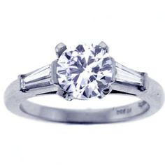 Classic Tiffany Engagement Ring With Wedding Band 34
