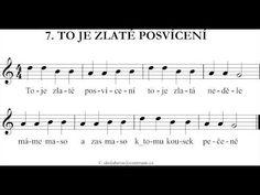 (2) To Je Zlaté Posvícení - Zobcová Flétna - YouTube Sheet Music, Youtube, Advent, Carnavals, Youtubers, Music Sheets, Youtube Movies
