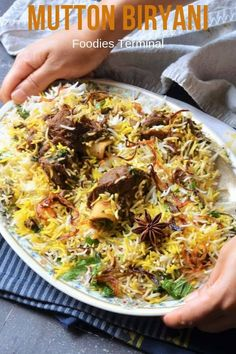 Make this Easy Mutton Biryani Recipe in Oven & learn the techniques to prepare the fluffiest Biryani rice & the tastiest Mutton gravy for an Autentic Mutton Biryani recipe. Easy Indian Recipes, Dinner Recipes Easy Quick, Easy Recipes, Easy Meals, Best Mutton Biryani Recipe, Beef Biryani Recipe, Mutton Gravy, Masala Powder Recipe, Easy Pressure Cooker Recipes