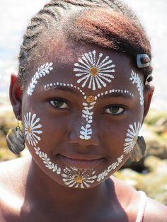 Africa |  Sakalava woman from Madagascar