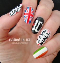 Nailed It NZ: One Direction Nail Art | 1D Nails http://www.naileditnz.com/2014/10/one-direction-nail-art-1d-nails.html
