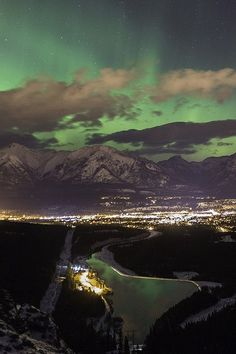 Northern Lights over Canmore, Alberta Want to go back