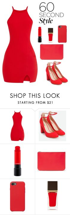 """""""Red Cocktail"""" by iamniharika ❤ liked on Polyvore featuring JustFab, Alexander Wang and Tom Ford"""