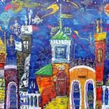ANNO 1856 Painting by Tatyana Murova | Saatchi Art Silverpoint, Acrylic Spray Paint, Art Deco Illustration, Paint Party, Saatchi Art, Original Paintings, Balloons, Colours, Canvas