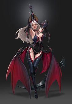 ART by Hyungseok Yang / Concept Artist Fantasy Girl, Fantasy Female Warrior, Chica Fantasy, Fantasy Art Women, Anime Fantasy, Dark Fantasy Art, Fantasy Artwork, Female Art, Warrior Angel