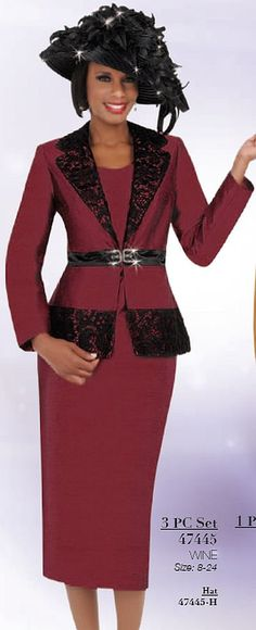 Ben Marc 47445 Womens Church Suit with Lace