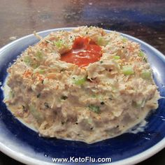 Sriracha Tuna Fish Volcano Recipe from KetoFlu.com
