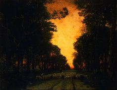 Theodore Rousseau, (French, 1812 - 1867),   Forest of Fontainebleau,  1855,  oil on canvas (from: darksilenceinsuburbia & theshipthatflew via: BAMPFA)