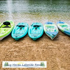 The Hideaway is a ranch-style cabin for 12 with a private deck and boat dock close to the beach on Budd Lake in central Michigan. Book direct with @Snug Haven Resort for the lowest Summer rates! #bookdirect #itscabintime #travelmichigan #lakehouse