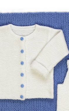Vauvan valkean jakun ohje Knitted Baby Clothes, Baby Knitting, Colours, Crochet, Pattern, Sweaters, Kids, Inspiration, Baby Things