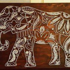elephant string art ile ilgili görsel sonucu