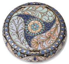 A RUSSIAN SILVER-GILT AND CLOISONNE ENAMEL PILL BOX | MARK OF ...