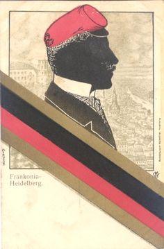 Burschenschaft Frankonia Heidelberg Color, Heidelberg, Cards