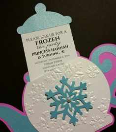 Snowflake Teapot Invitation for Tea Party