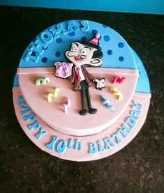 Mr Bean 2d birthday cake