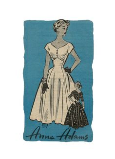 Vintage 1950s Mail Order 4537 Anne Adams by pinkpolkadotbutton, $24.00