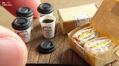 Miniatur-Kaffee und Sandwich - DIY
