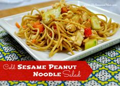 Cold Sesame Peanut Noodle Salad on MyRecipeMagic.com -- the perfect make-ahead dish that every member of the family will love!