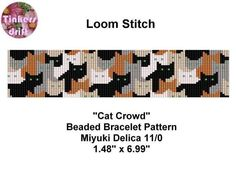 Cat Crowd Loom Beading Pattern | Craftsy
