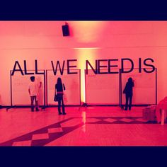 All you need is... #TED #tedx #tedtalks #beirut #lectures #speakers #inspiration... boards set up during the breaks for thoughts?