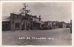RP: Standard Service Gas Station on Main Street , LAC DU FLAMBEAU , Wisconsin , PU-1939