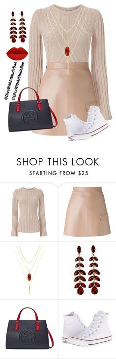"""""""`❤❤❤❤_"""" by divawithattitudebae ❤ liked on Polyvore featuring Autumn Cashmere, MSGM, Sparkling Sage, Gucci and Converse"""