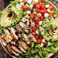 Chicken Avocado Caprese Salad