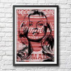Kate Moss pop art poster print photo Warhol Campbells soup can original pop art model supermodel Pop Art Posters, Cool Posters, Poster Prints, Art Prints, Campbell's Soup Cans, Collage, Art Model, Warhol, Kate Moss