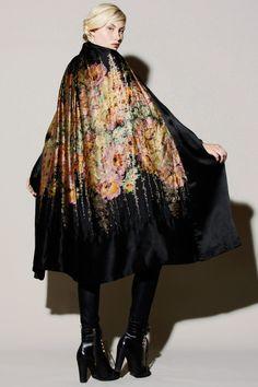 Antique 1920s Silk Opera Cape   20s Fashion http://thriftedandmodern.com/antique-1920s-silk-opera-cape