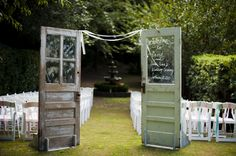 we have tons of doors for your ceremony site ~ still need to find some with windows like these - Doors For Wedding Ceremony