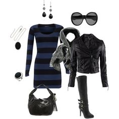 """""""black and blue"""" by rachelann34 on Polyvore"""