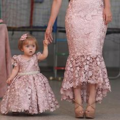 New Ivory Blush Pink Flower Girl Dresses A Line Lace Appliques Girls Formal Party Gowns Girls Birthday Christmas Party Dresses - Her Crochet Pink Flower Girl Dresses, Baby Girl Party Dresses, Little Girl Dresses, Flower Girls, Girls Dresses, Party Gowns, Mother Daughter Dresses Matching, Mother Daughter Fashion, Baby Dress Design
