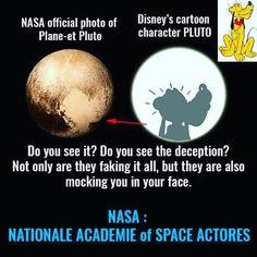 The dog Pluto from the studio W.Dysney and nazi friend W.von Braun from Nasa.