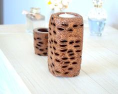 banksia tea light candle holderhandmade by ModsOnPods on Etsy