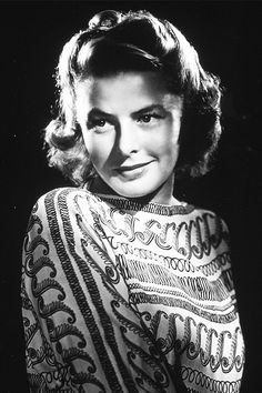 "msmildred: "" Ingrid Bergman, c. 1940s. """