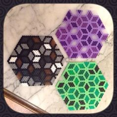 Vitral coasters - hama beads