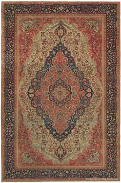 MOTASHAM KASHAN, Central Persian, 7ft 10in x 12ft 0in, Circa 1875. The Chappaqua collectors had an unswerving eye for creative brilliance across many different styles of antique Oriental rugs. A stirring example is this classical Persian carpet that achieves technical perfection while expressing a vibrant, paradisiacal beauty.