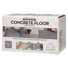 Rust-Oleum Concrete Floor Coating Kit Concrete Floor Coatings, Concrete Floors, Home Projects, Indoor Outdoor, Rust, Home Improvement, Walmart, House Design, Flooring