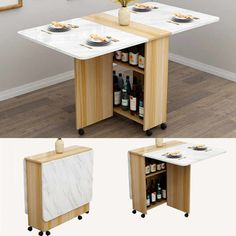 Cheap Dining Tables, Wooden Dining Tables, Dining Table In Kitchen, Wall Tables, Wooden Kitchen, Desk In Living Room, Living Room Mirrors, Living Room Trends, Tiny Furniture